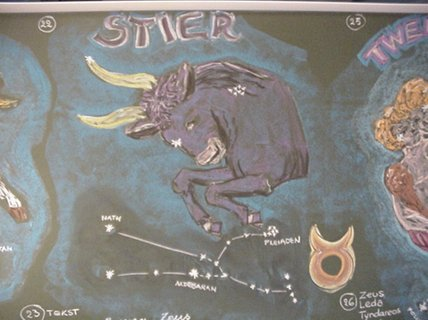 Bordtekening sterrenbeeld Stier Rinkrank